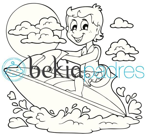 Moto de agua: dibujo para colorear