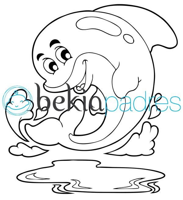 Delfin bonito para colorear - Imagui