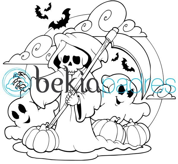 la santa muerte coloring pages - photo #48