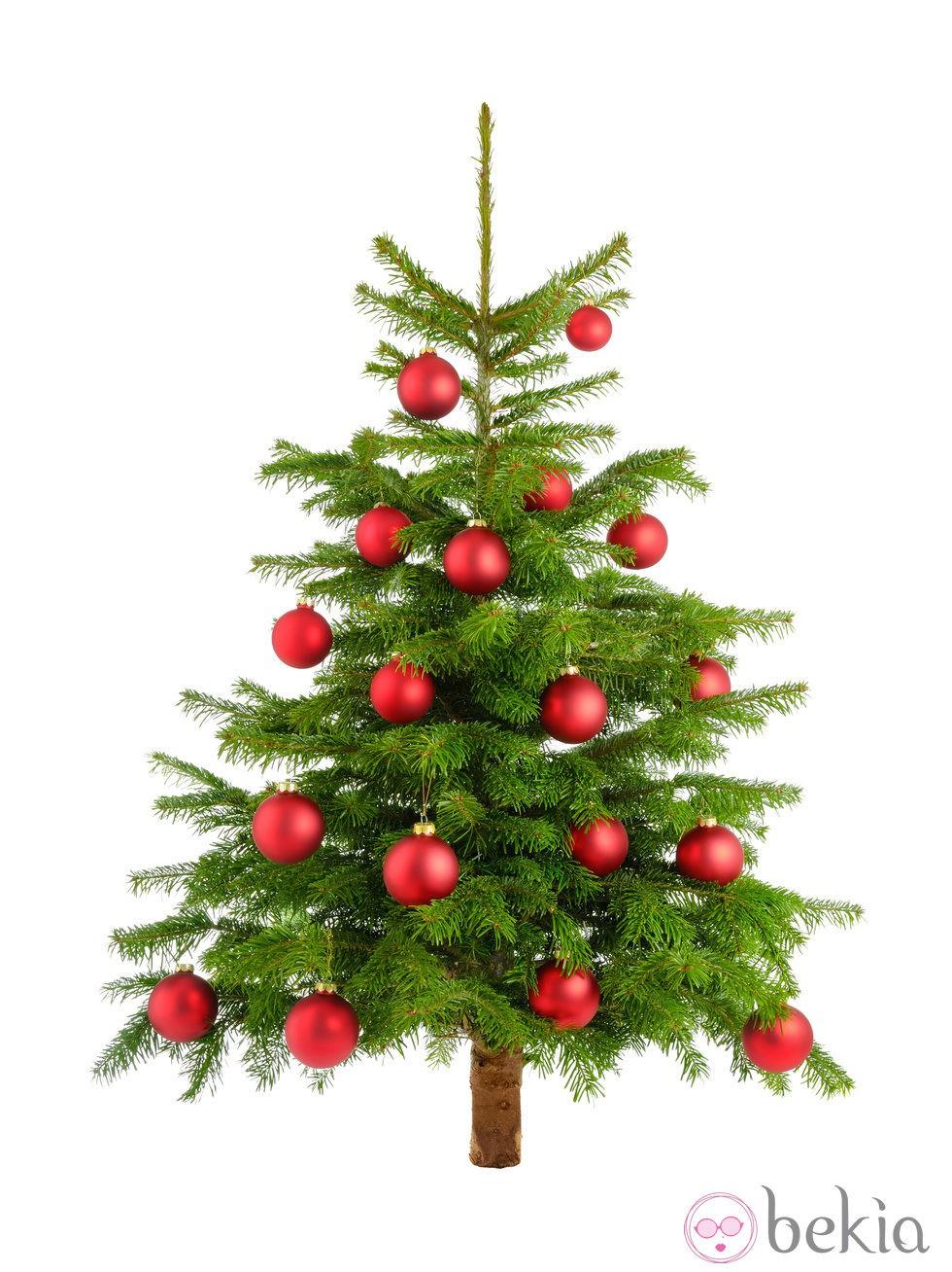 Rbol de navidad decorado con bolas rojas fotos en bekia - Bolas de navidad rojas ...